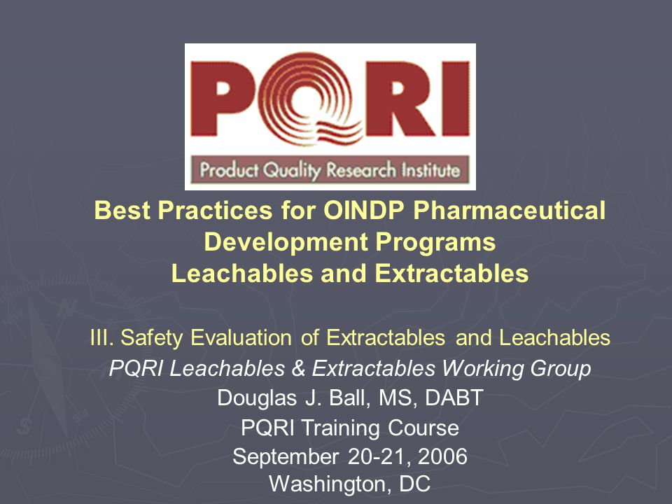 Best Practices for OINDP Pharmaceutical Development Programs