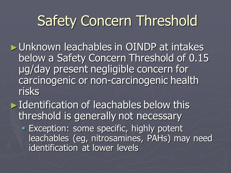 Safety Concern Threshold