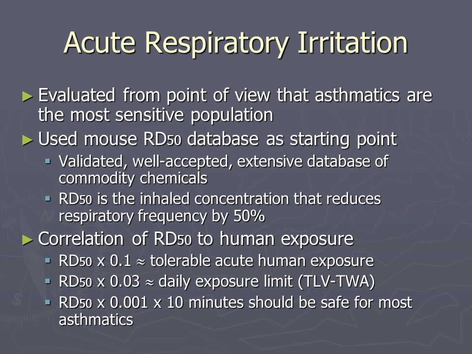 Acute Respiratory Irritation