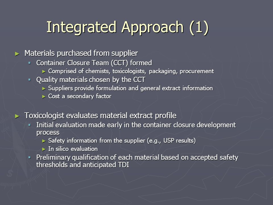Integrated Approach (1)