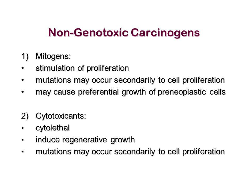 Non-Genotoxic Carcinogens