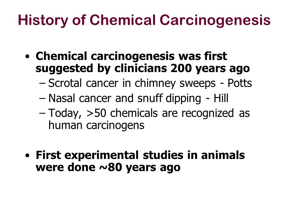 History of Chemical Carcinogenesis