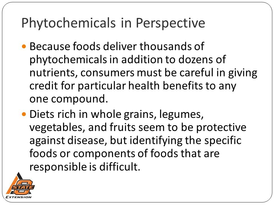 Phytochemicals in Perspective