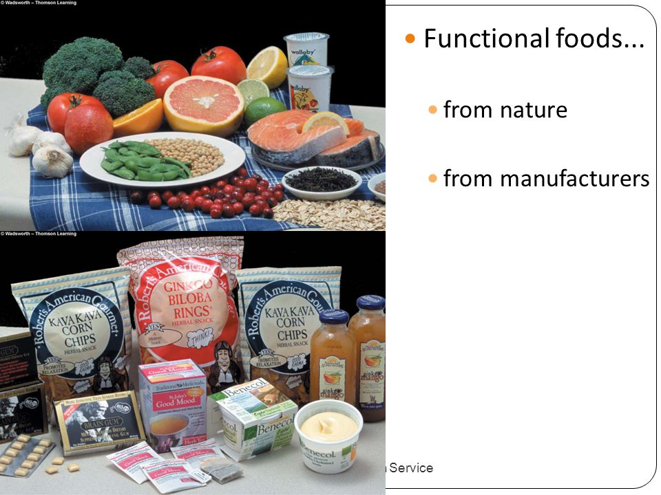 Functional foods... from nature from manufacturers