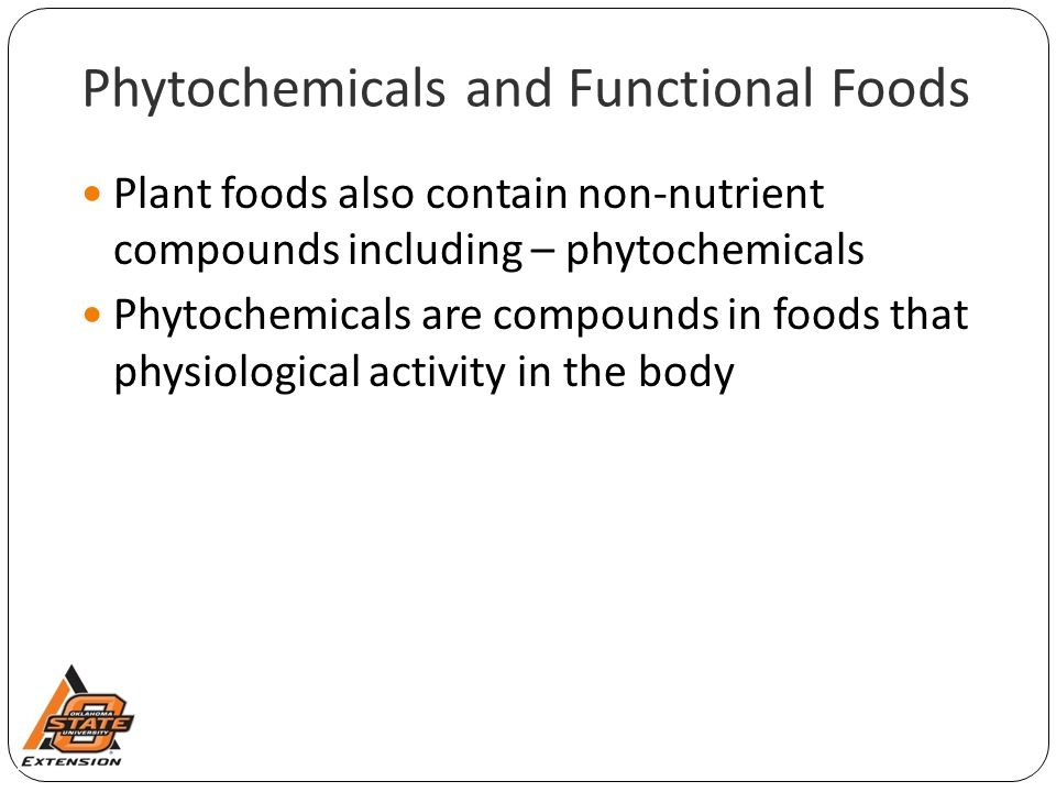 Phytochemicals and Functional Foods