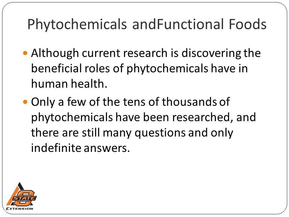 Phytochemicals andFunctional Foods