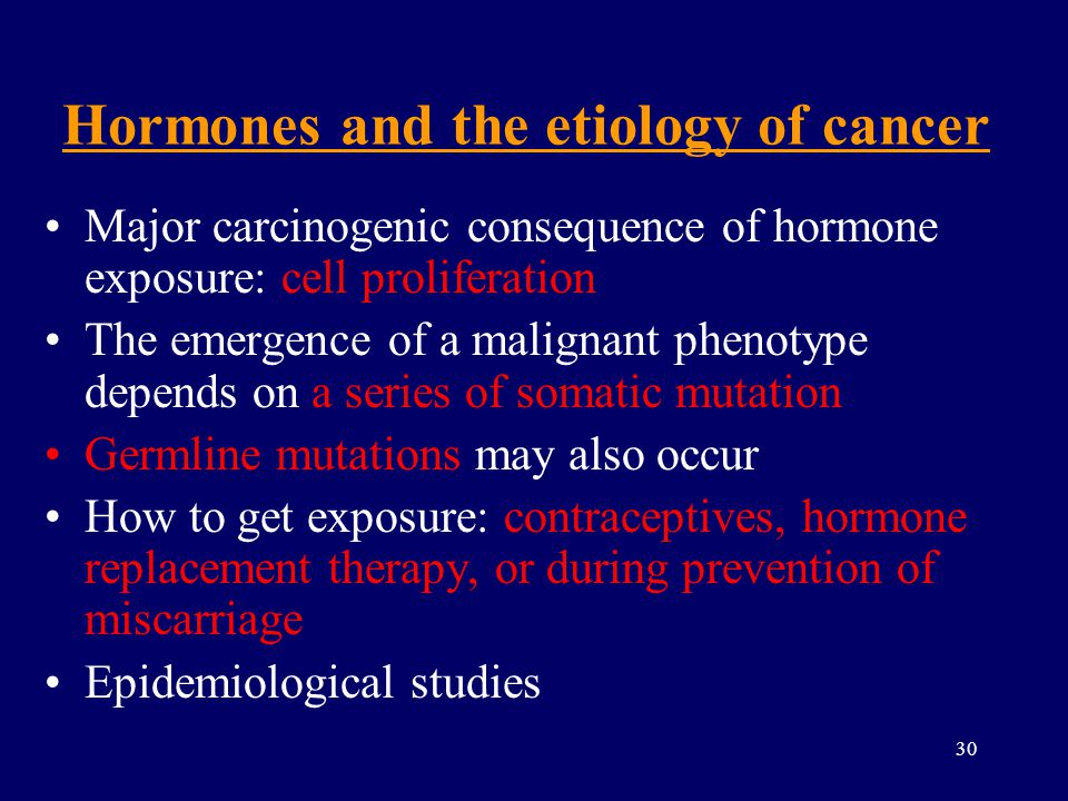 Hormones and the etiology of cancer