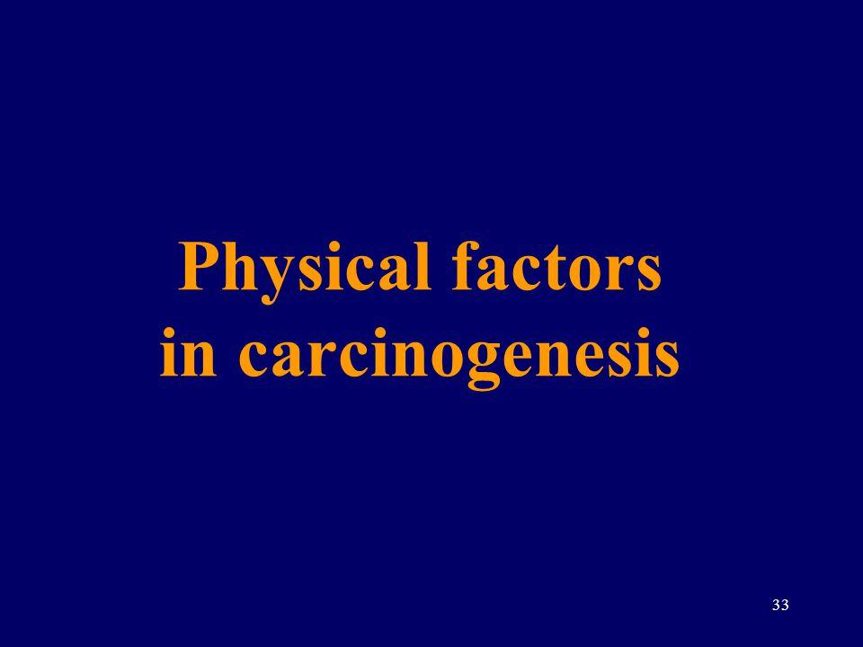 Physical factors in carcinogenesis