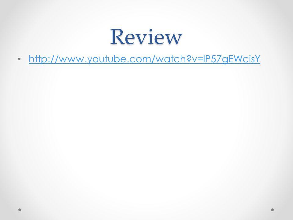 Review http://www.youtube.com/watch v=lP57gEWcisY