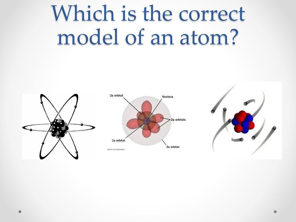 Which is the correct model of an atom