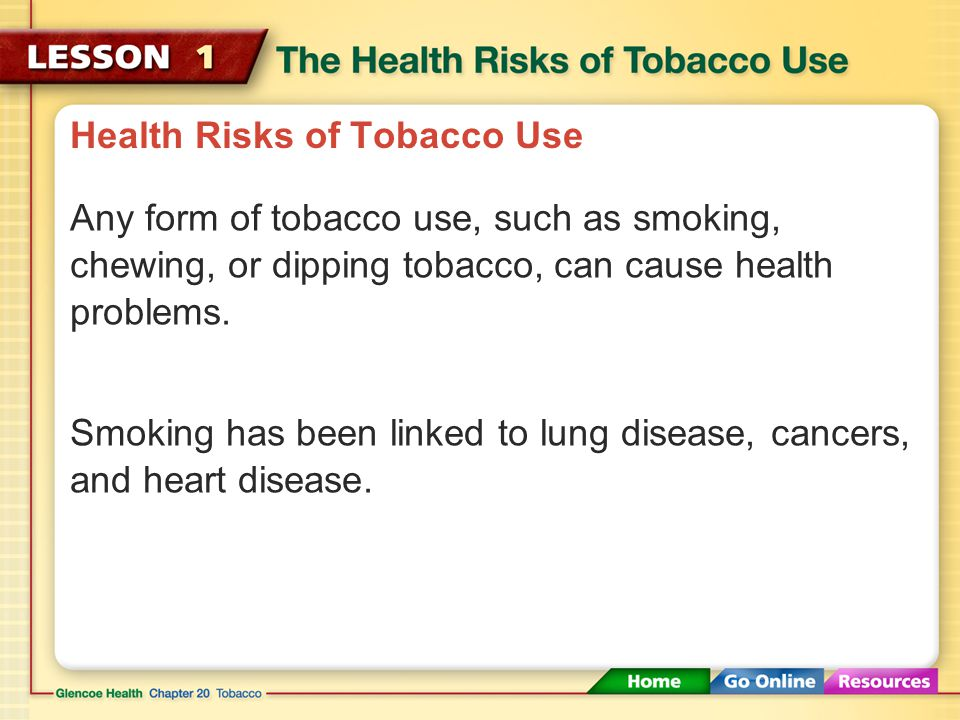 Health Risks of Tobacco Use