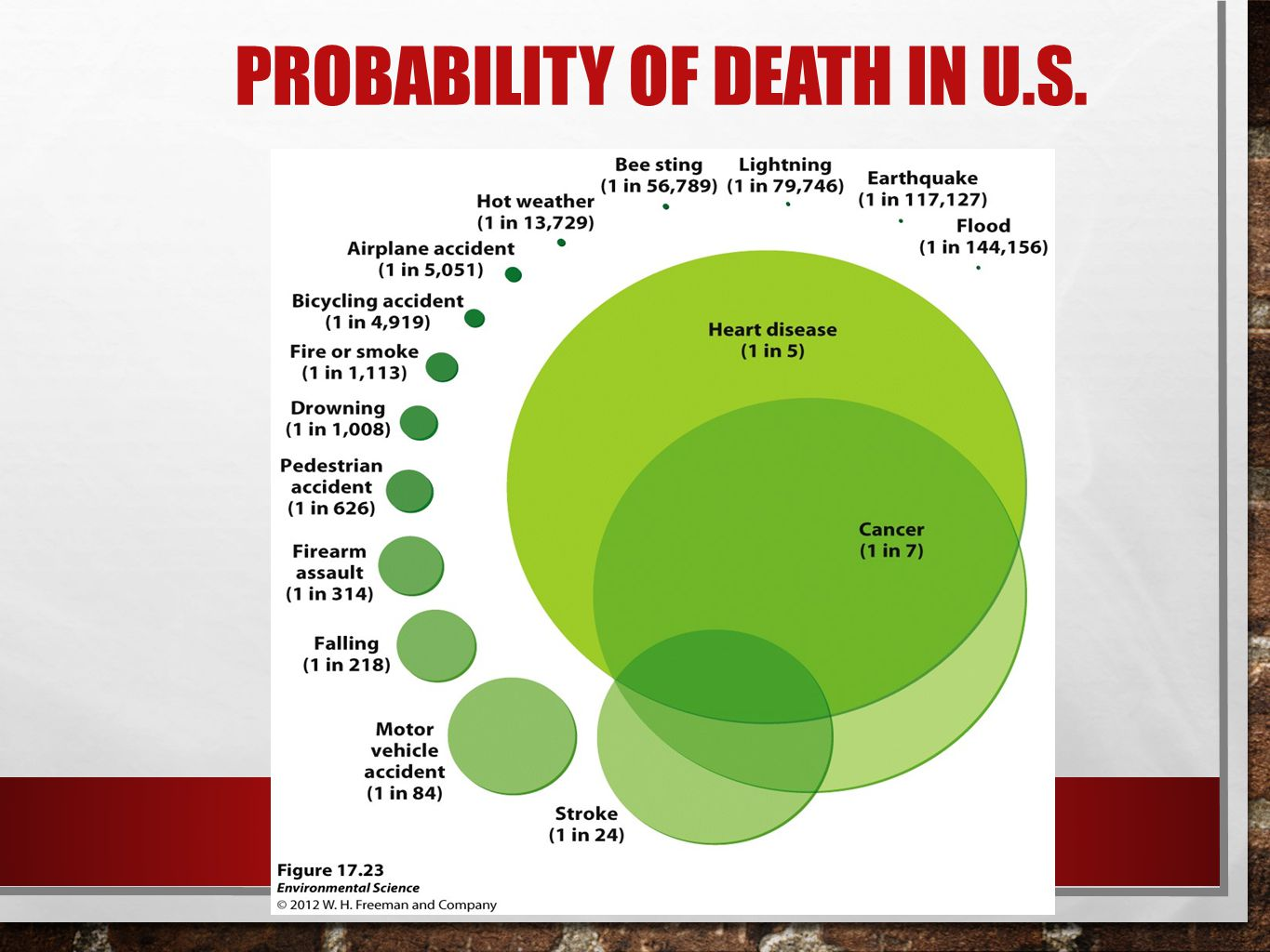 Probability of death in U.S.