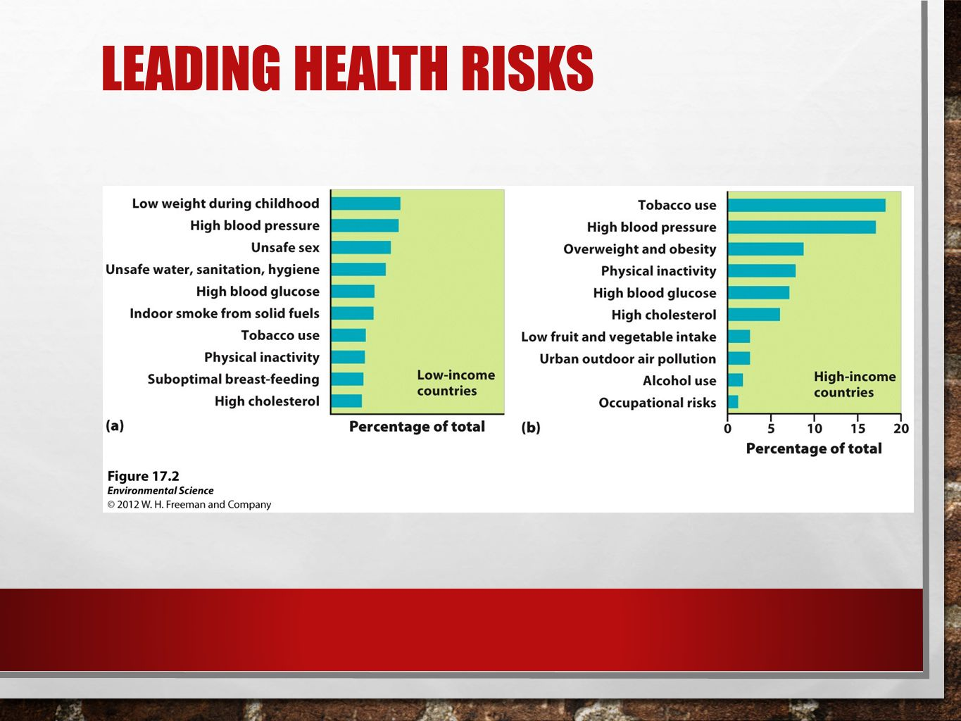 Leading Health Risks