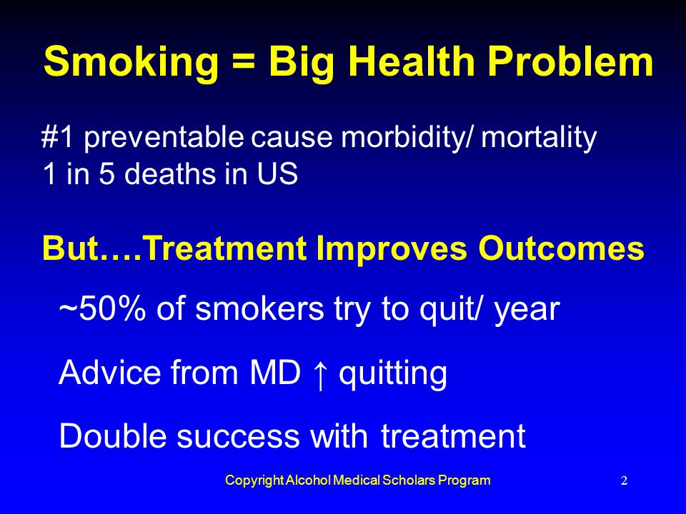 Smoking = Big Health Problem