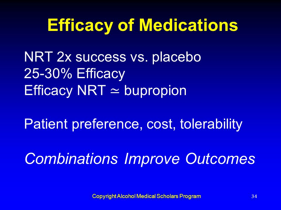 Efficacy of Medications