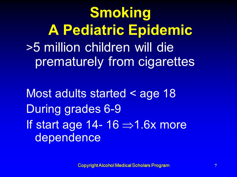 Smoking A Pediatric Epidemic