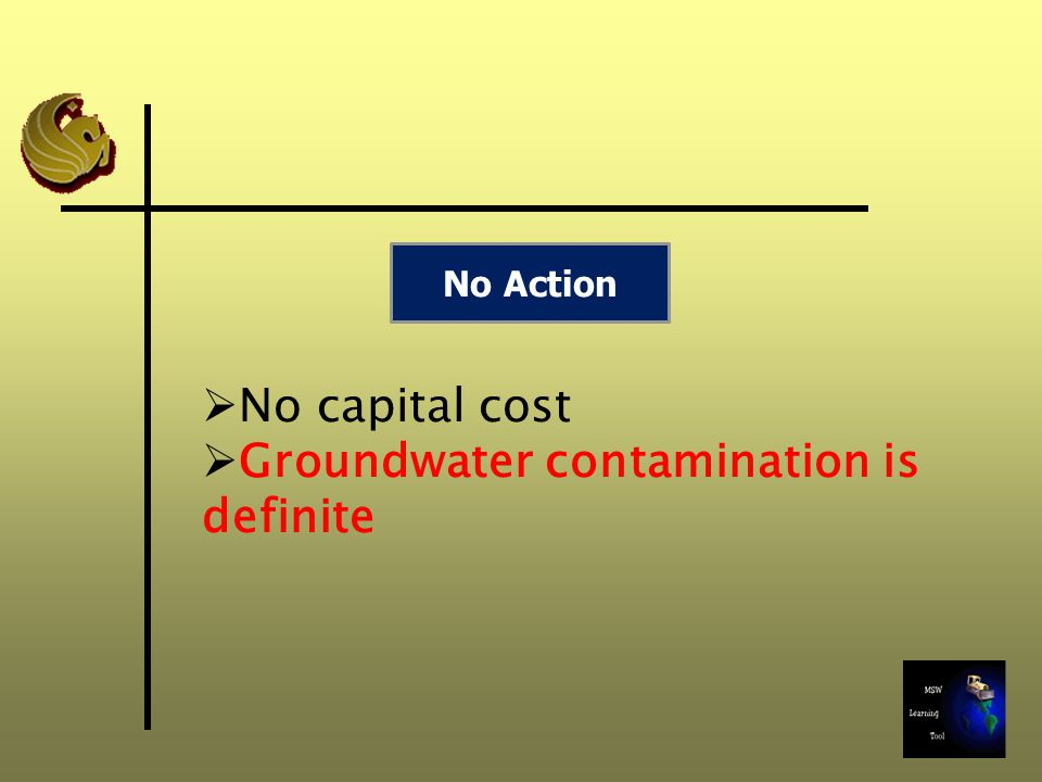 Groundwater contamination is definite