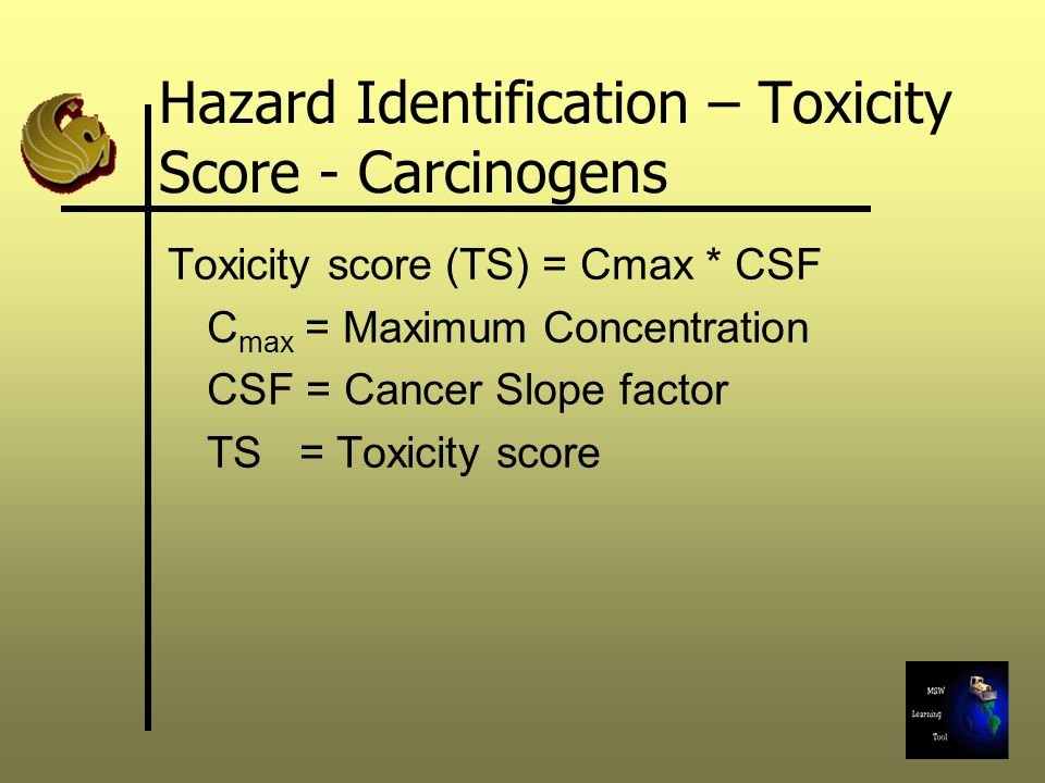 Hazard Identification – Toxicity Score - Carcinogens