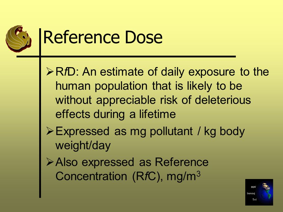 Reference Dose
