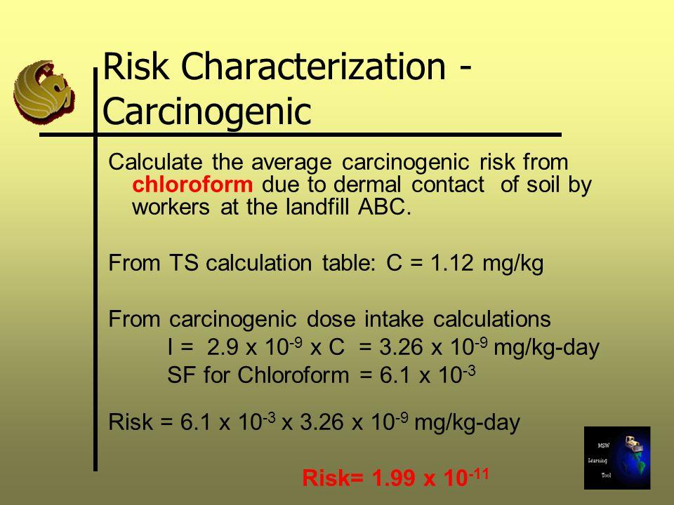 Risk Characterization - Carcinogenic