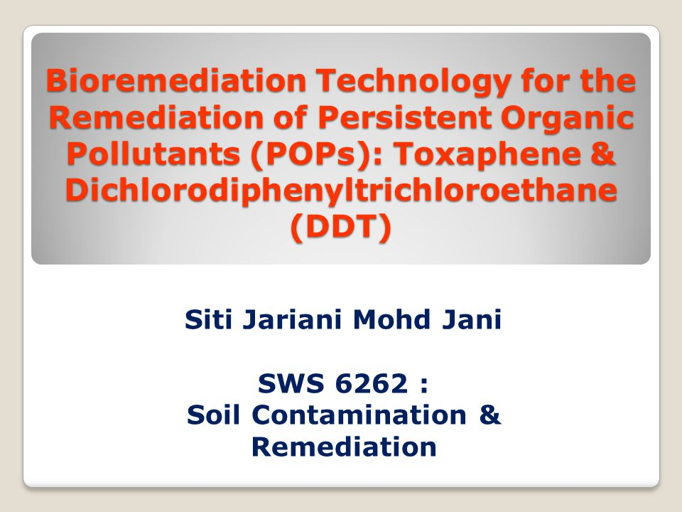 Soil Contamination & Remediation