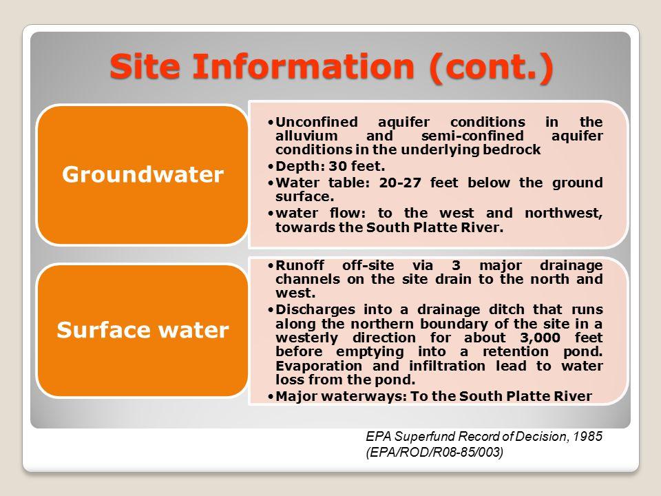 Site Information (cont.)