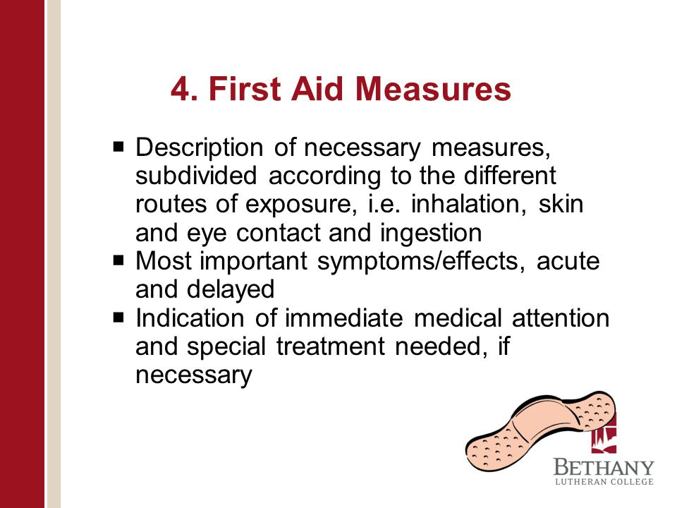 4. First Aid Measures