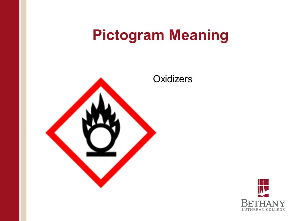 Pictogram Meaning Oxidizers