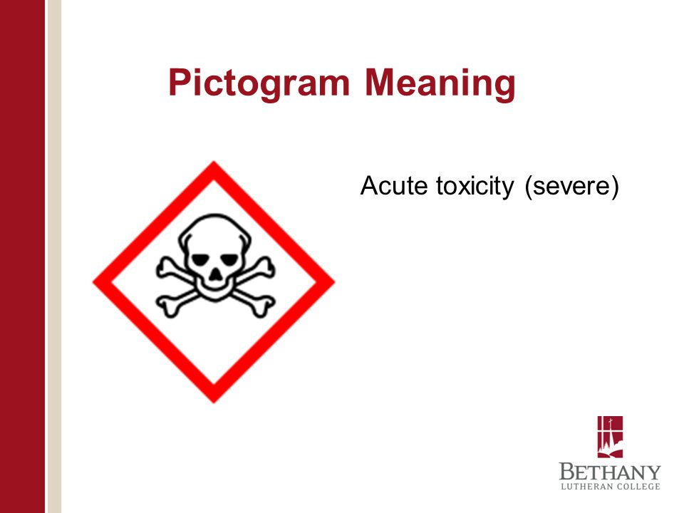 Pictogram Meaning Acute toxicity (severe)