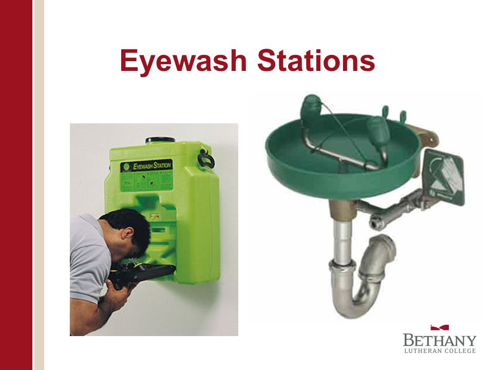 Eyewash Stations Does everyone know where their eyewash is located
