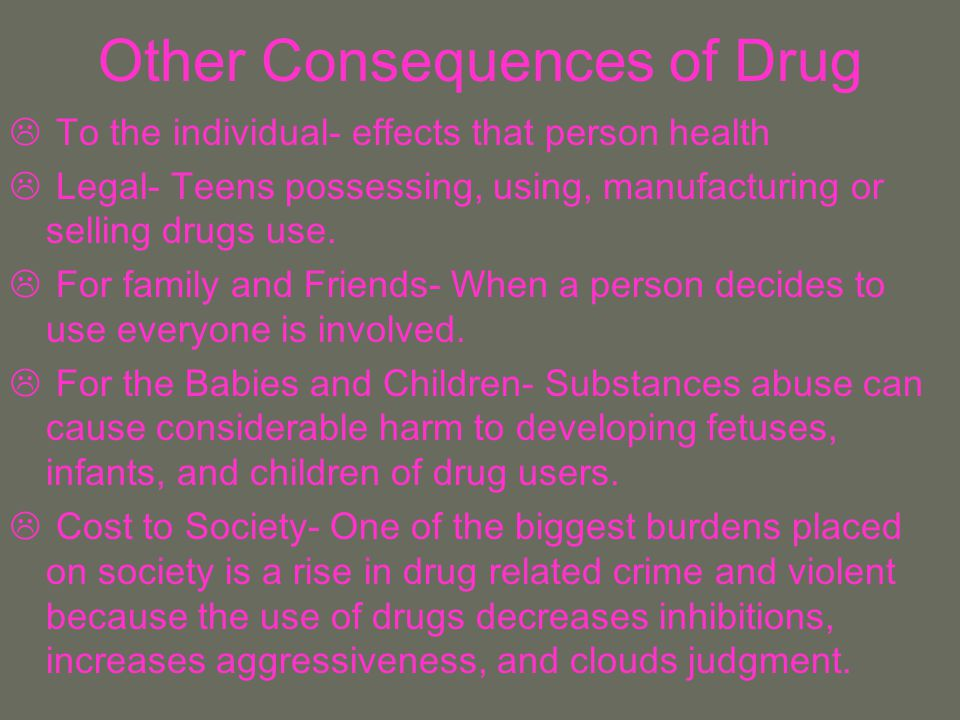 Other Consequences of Drug