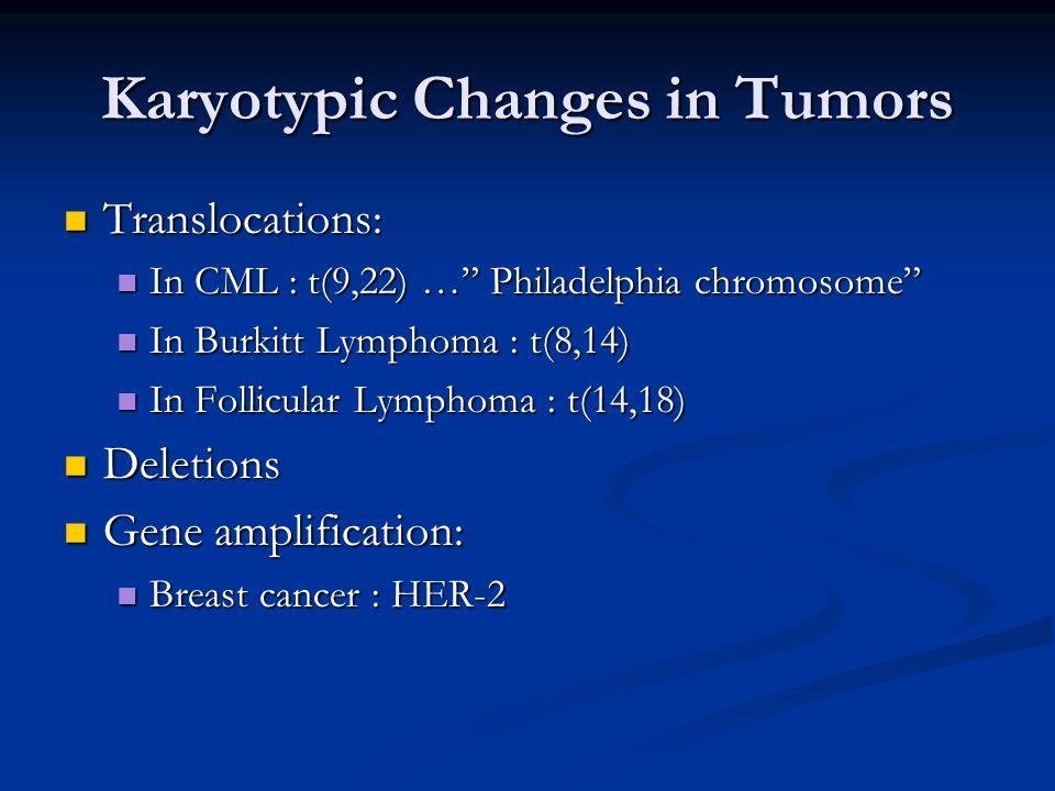 Karyotypic Changes in Tumors