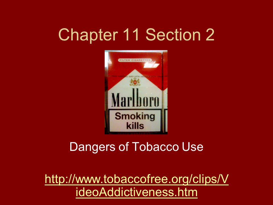 Chapter 11 Section 2 Dangers of Tobacco Use