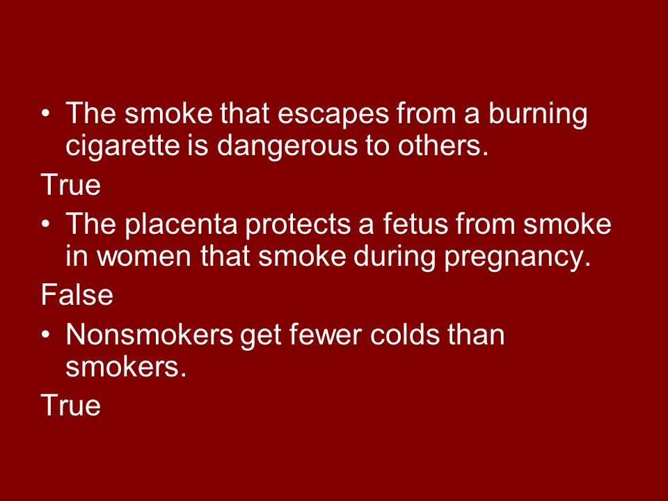 The smoke that escapes from a burning cigarette is dangerous to others.
