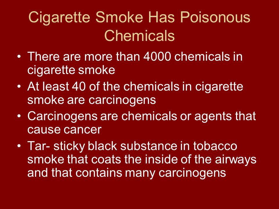 Cigarette Smoke Has Poisonous Chemicals