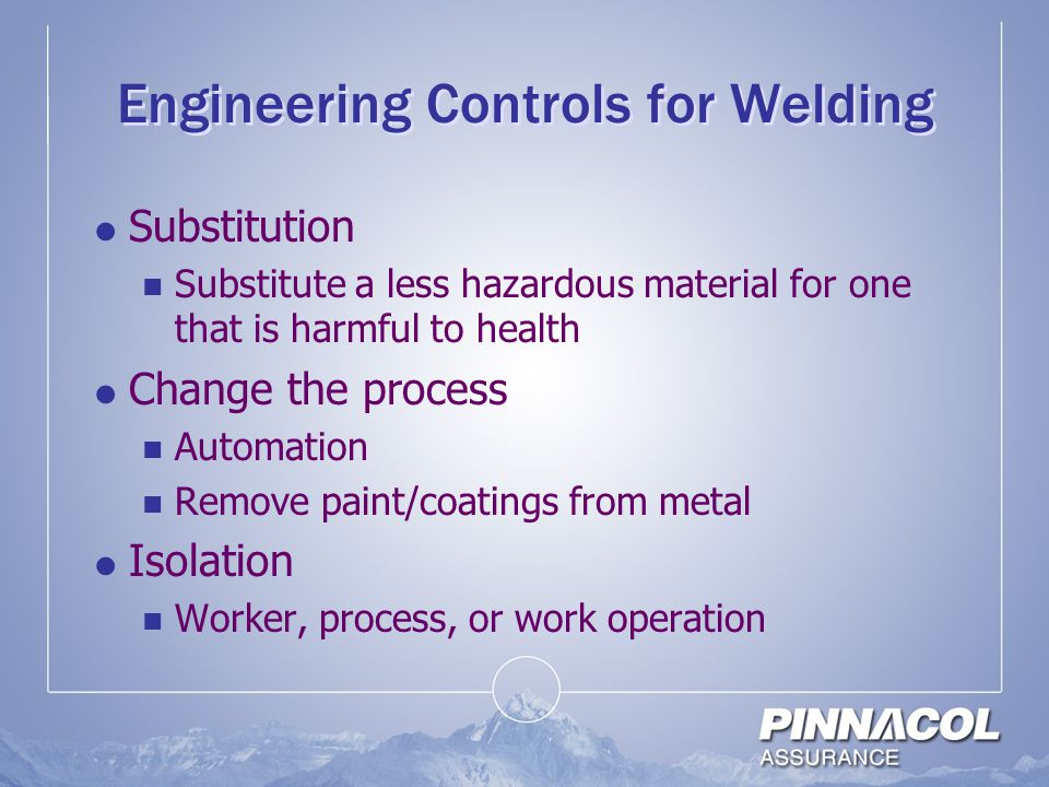 Engineering Controls for Welding