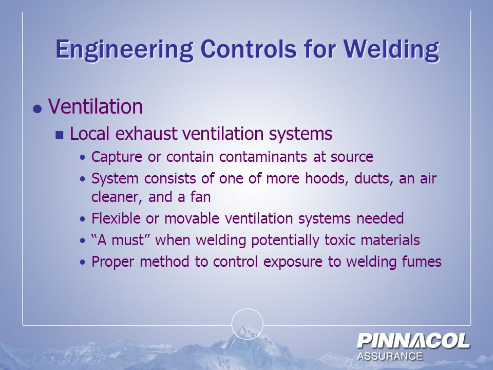 Engineering Controls for Welding