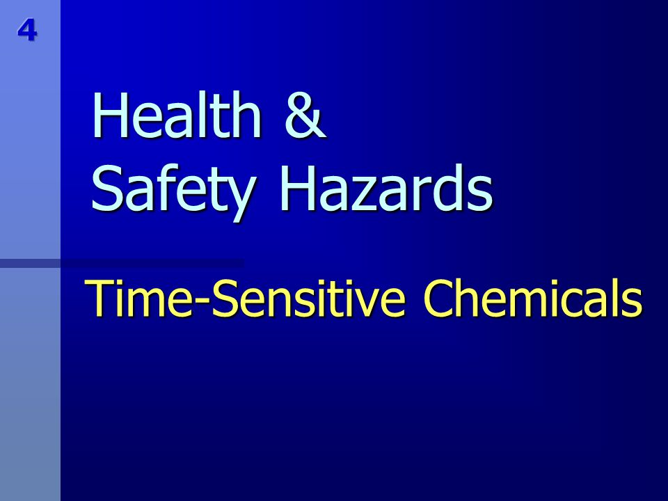 Time-Sensitive Chemicals