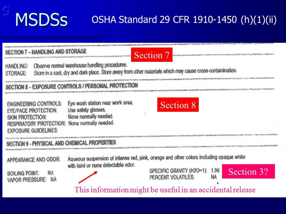 OSHA Standard 29 CFR 1910-1450 (h)(1)(ii)
