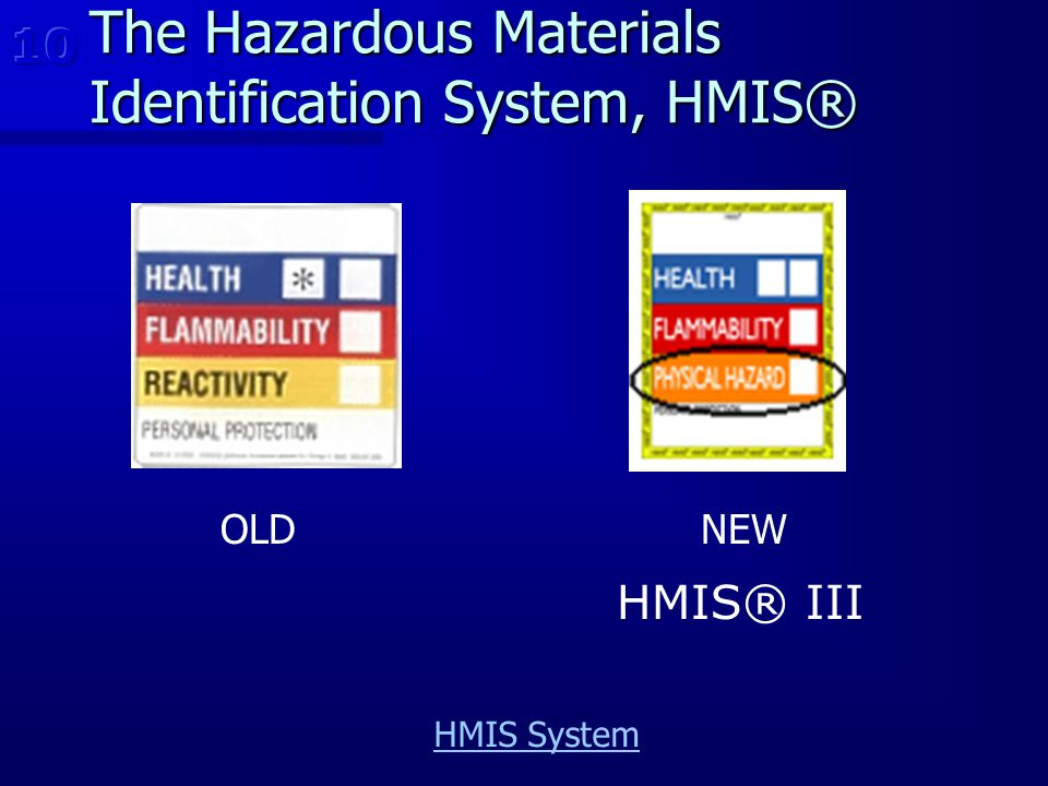 The Hazardous Materials Identification System, HMIS®