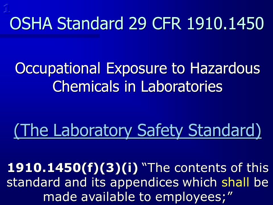 (The Laboratory Safety Standard)