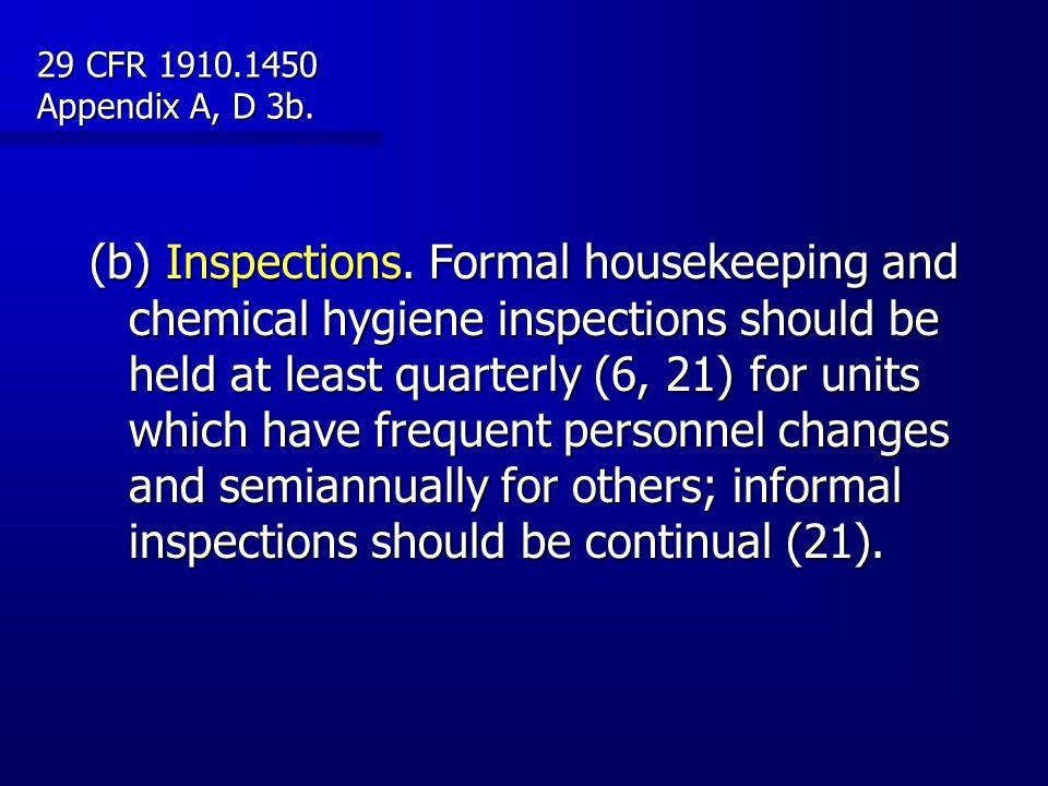 29 CFR 1910.1450 Appendix A, D 3b.