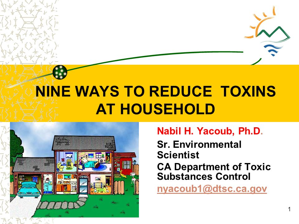 NINE WAYS TO REDUCE TOXINS AT HOUSEHOLD