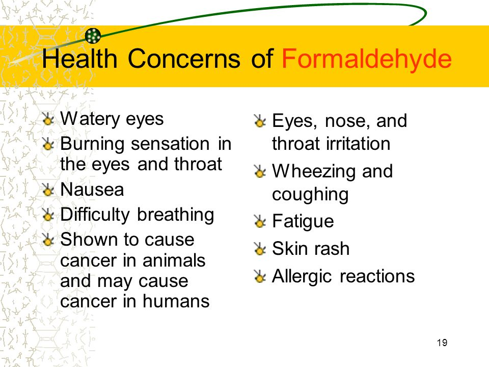 Health Concerns of Formaldehyde