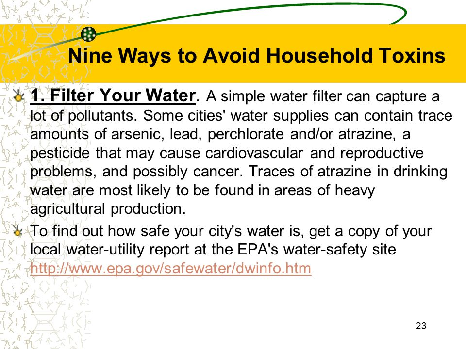 Nine Ways to Avoid Household Toxins