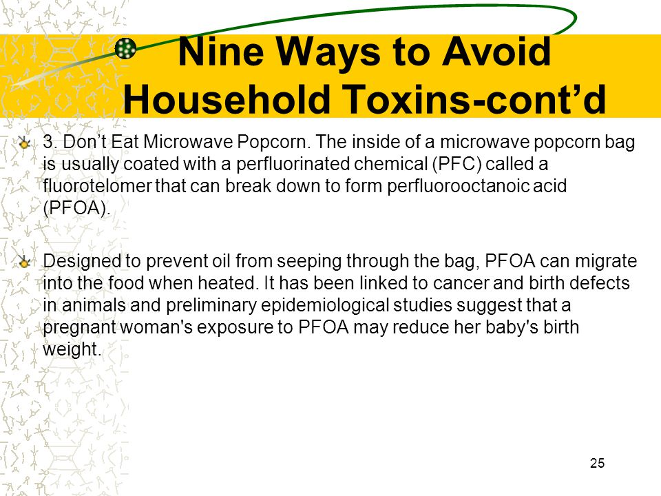 Nine Ways to Avoid Household Toxins-cont'd
