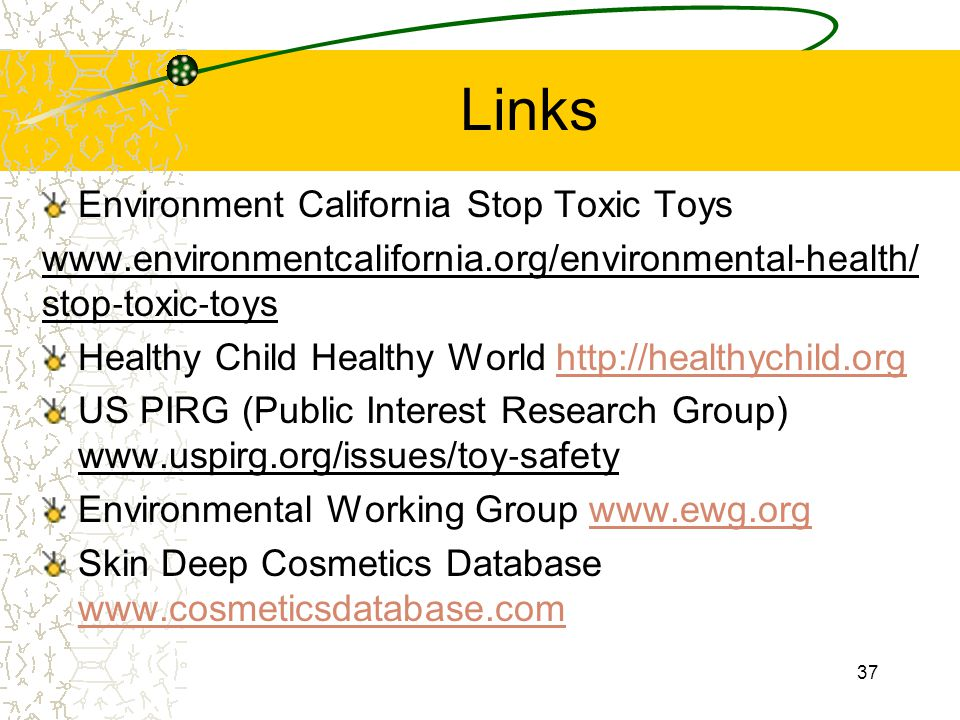 Links Environment California Stop Toxic Toys