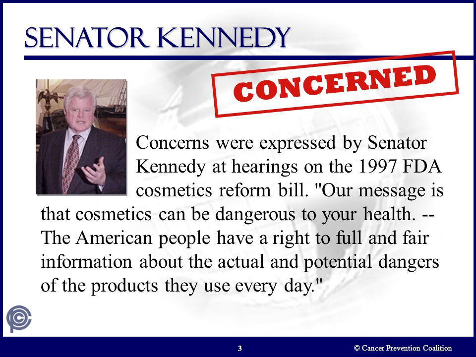 CONCERNED Senator Kennedy