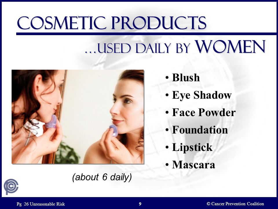 Cosmetic Products …Used daily by women Blush Eye Shadow Face Powder