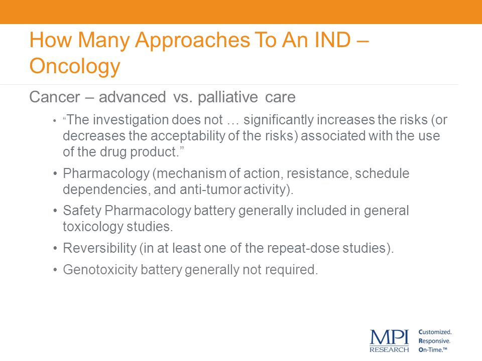 How Many Approaches To An IND – Oncology